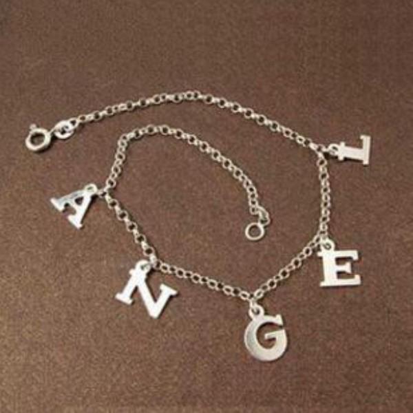 Personnalisé S925 Argent Name Bracelets