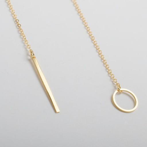 Romantique Unique Collier Cercle Lasso Long Strip Pendant For Her
