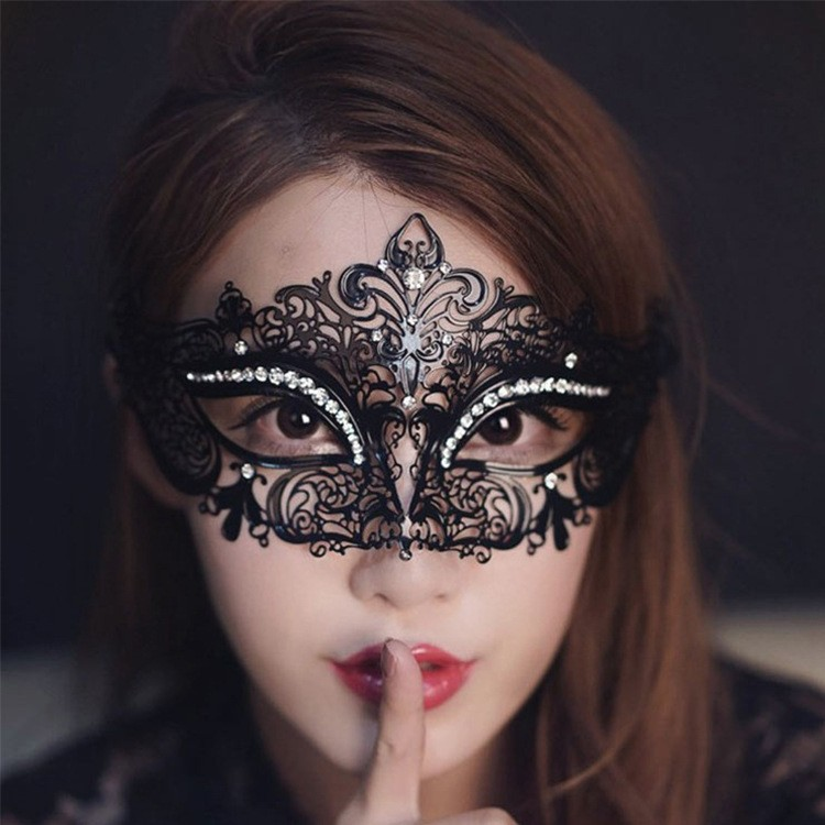 Noir Halloween Masquerade Princesse Hollow Out Masks