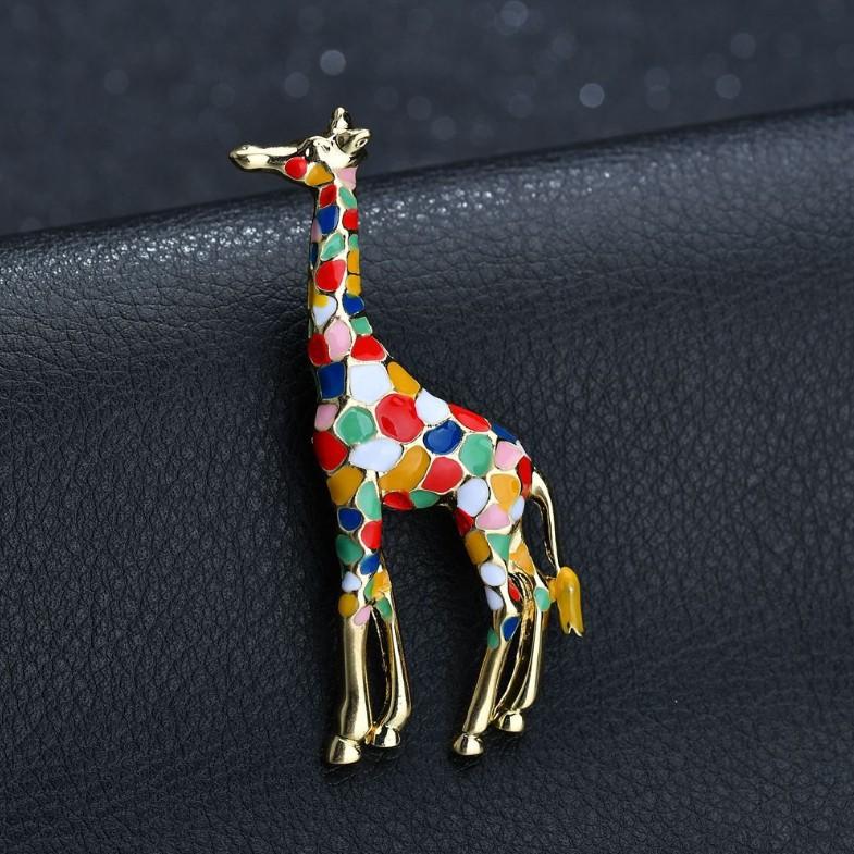 Coloré Giraffe Unique Broche