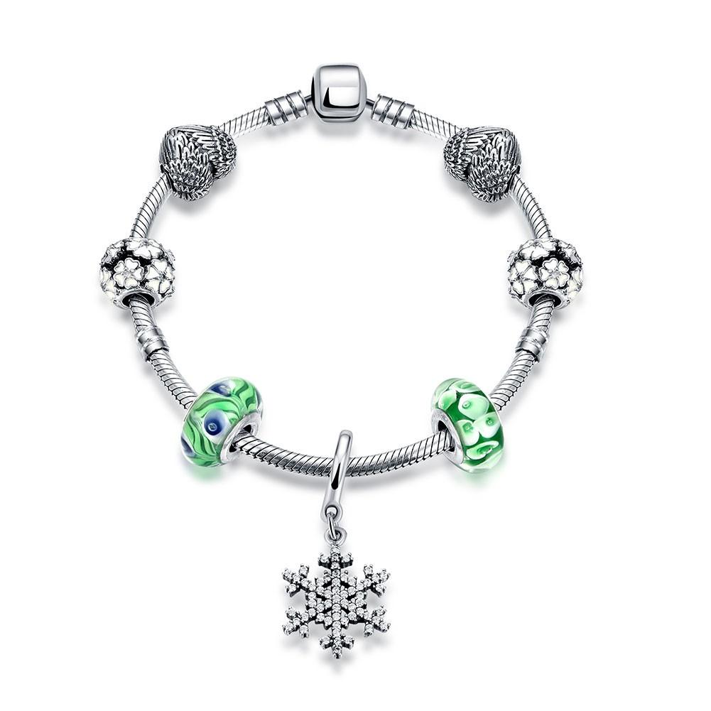 Coeurs Snowflake Cyan Accessories S925 Argent Bracelets