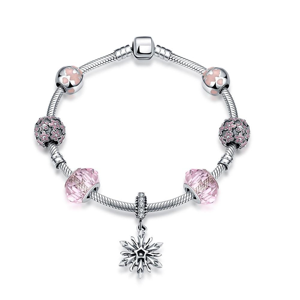 Rose Fleur Cool Pendant S925 Argent Bracelets