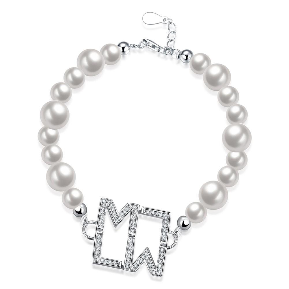 Blanc Pearl Argent Pendant S925 Argent Bracelets