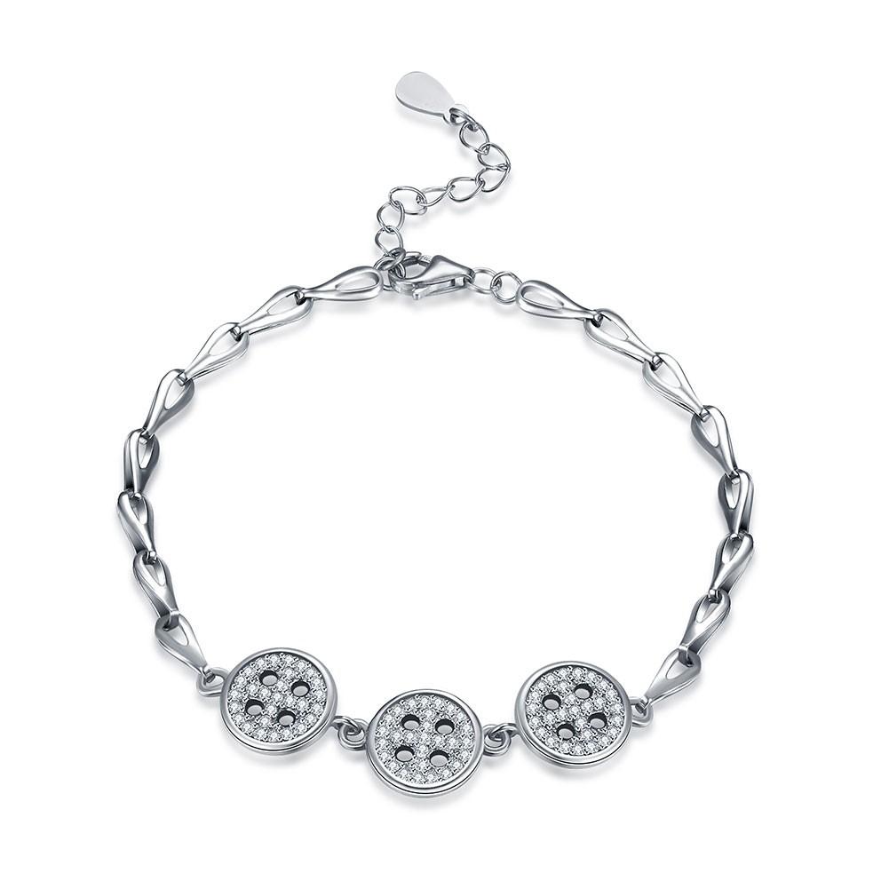Breloqueant Argent Buttons Pendant S925 Argent Bracelets