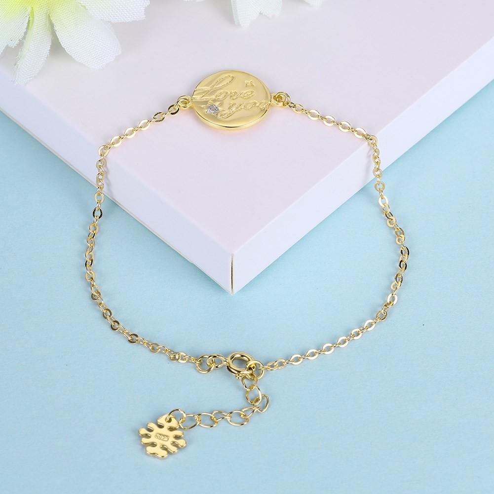 Or Rosé/Argent/Or Amour You Ronde Pendant S925 Argent Bracelets