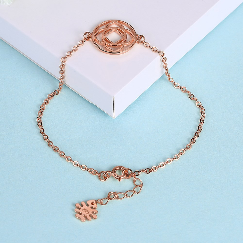 Or Rosé/Argent/Or Fleur Pendant Agréable S925 Argent Bracelets
