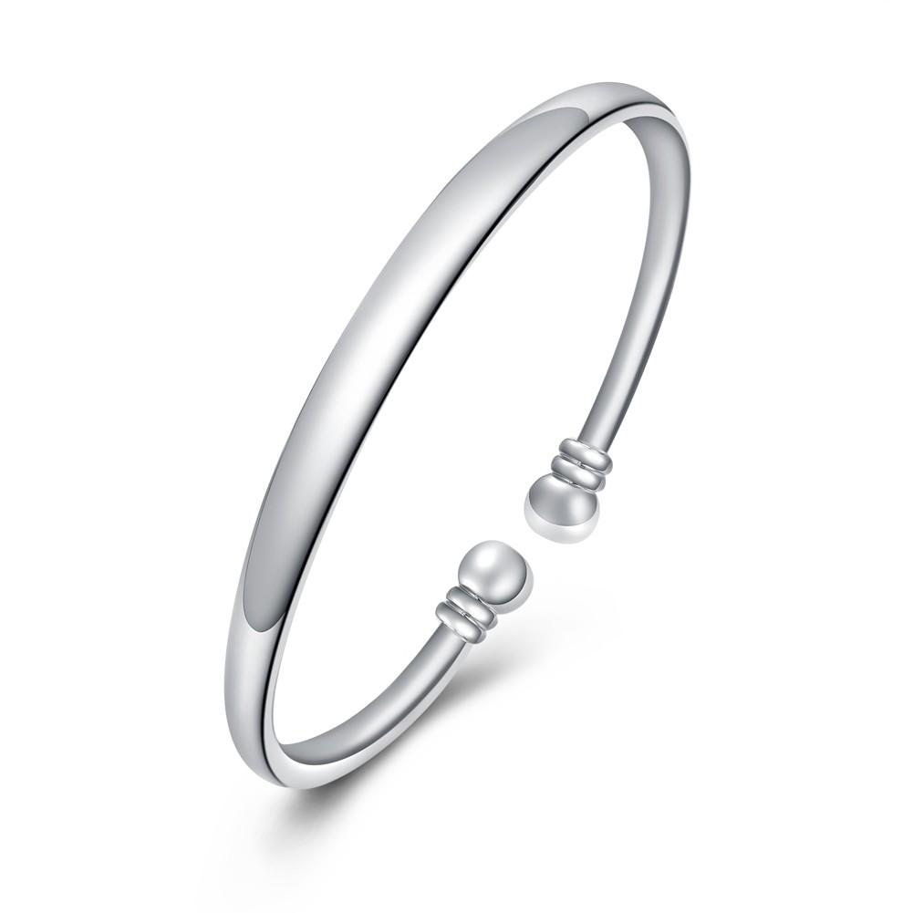 Simple et Agréable Argent Titane Bracelets Joncs