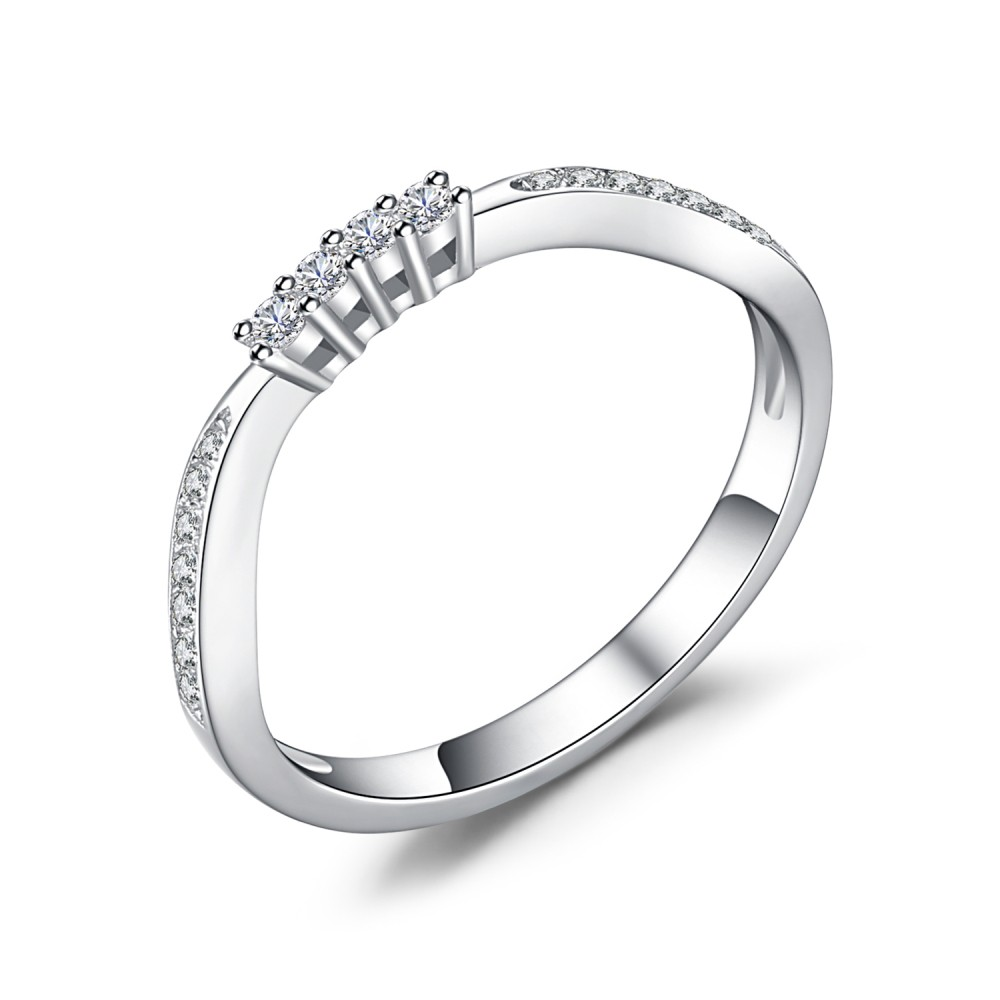 Coupe Ronde Gemme 925 Argent Sterling Alliances Femme