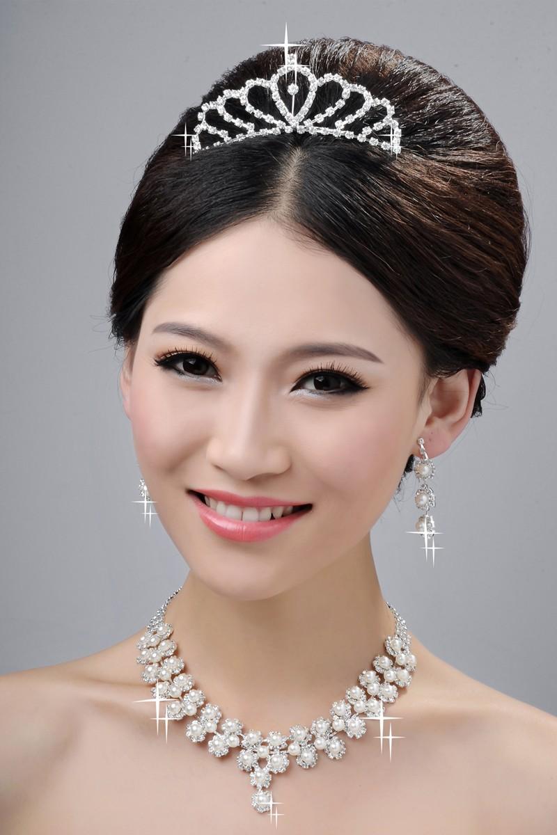 Magnifique Coiffe de Mariage Colliers Boucles d'oreilles Set