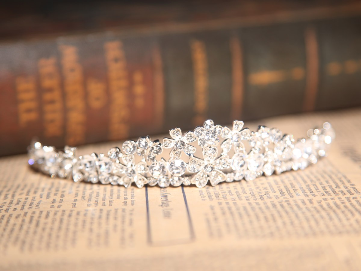 Superbe Clair Cristaux Coiffe de Mariage