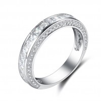 Coupe Princesse Saphir Blanc Argent Sterling Alliances