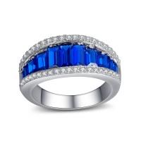 Saphir Bleu 925 Argent Sterling Alliances Femme