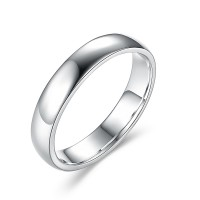 Simple 925 Argent Sterling Alliances