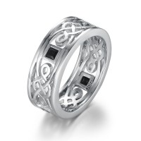 925 Argent Sterling Alliances Homme