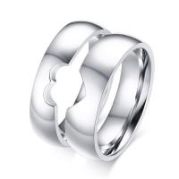Spécial Désign Acier au Titane Bague de Promesse pour les Couples