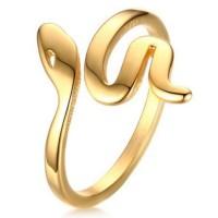Titane Or Serpent Bagues de Promesse pour Elle