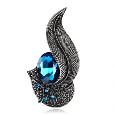Noir Feather Unique Sinble Broche
