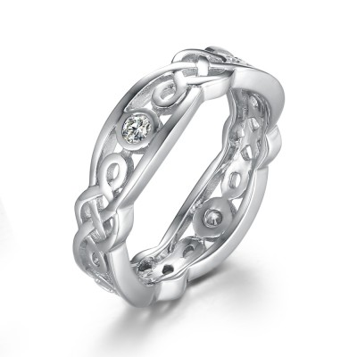 925 Argent Sterling Alliances Femme