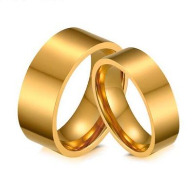 Or Acier au Titane Bagues de Promesse pour les Couples