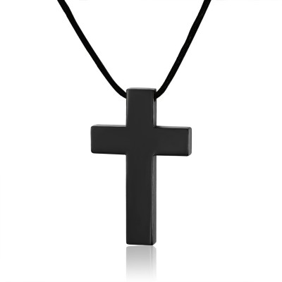 Pure Noir Cross 925 Argent Sterling Collier