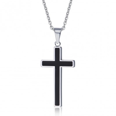 Noir Cross 925 Argent Sterling Collier