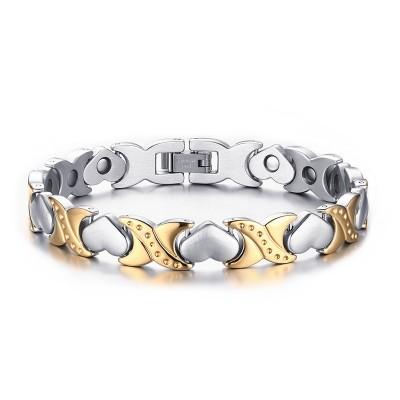 Argent et Or 925 Argent Sterling Bracelet