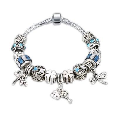 Aigue-marine/Rouge/Blanc/Bleu Argent Titane Bracelets