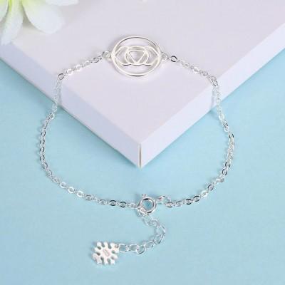 Or Rosé/Argent/Or Fleur Pendant Unique S925 Argent Bracelets