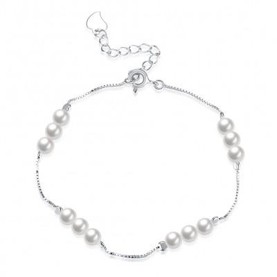 Élégant Perles S925 Argent Bracelets