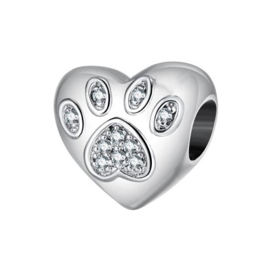 Paw Breloque Coeur Argent Sterling