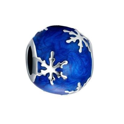 Snowflake Bleu Breloque Argent Sterling