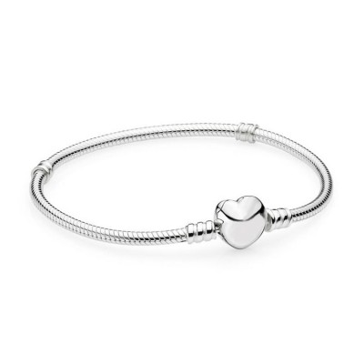 Coeur Classique Bracelet Argent Sterling