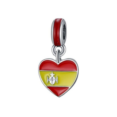 Spanish Flag Breloque Argent Sterling