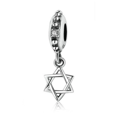Hexagram Breloque Argent Sterling