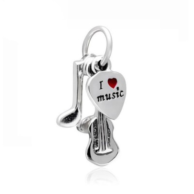 I Amour Music Breloque Argent Sterling