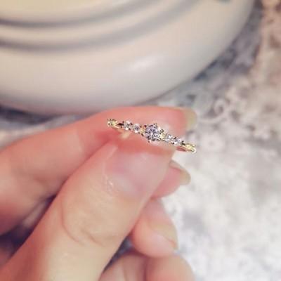 Simple Minuscule Saphir Blanc Bagues de Promesse pour Elle