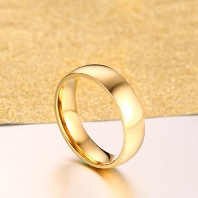 Acier au Titane Or Bagues de Promesse pour les Couples