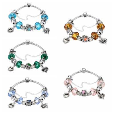 Blanc/Émeraude/Rose/Aigue-marine/Topaze/Light Bleu Argent Titane Bracelets