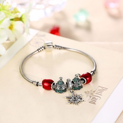 Rouge Coeurs Apple Accessories S925 Argent Bracelets