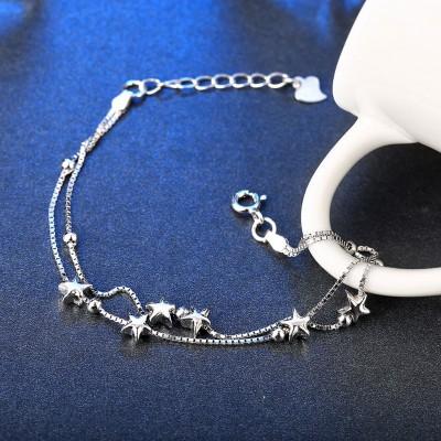 Breloqueant Étoiles Pendant S925 Argent Bracelets