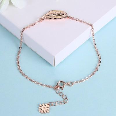 Or Rosé/Argent/Or Feuille Pendant S925 Argent Bracelets