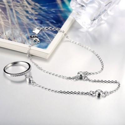 Unique Magnifique S925 Argent Bague Bracelets