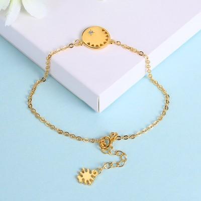 Or Rosé/Argent/Or Fleur Pendant S925 Argent Unique Bracelets