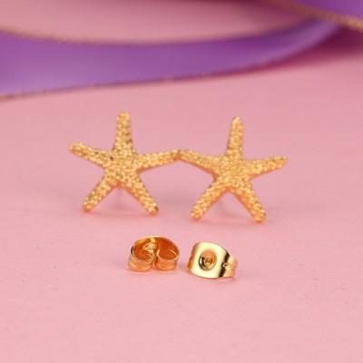 Étoile de mer Désign Or 925 Argent Sterling Boucles d'oreilles
