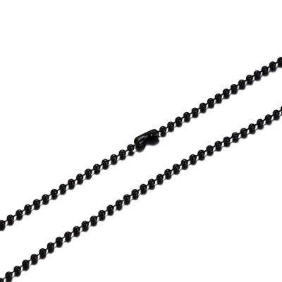 Noir Acier au Titane 2.4mm Chaînes