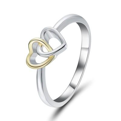 Romantique 925 Argent Sterling Bagues de Promesse pour Elle