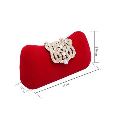 Élégant Rhinestone Pillow Fête/Sacs de Soirée