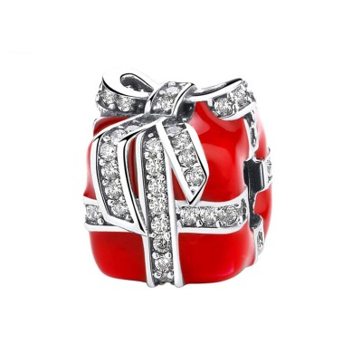 Rouge Gift Box Breloque Argent Sterling