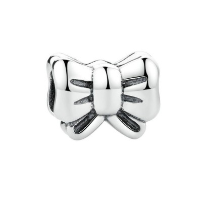 Bowknot Breloque Argent Sterling