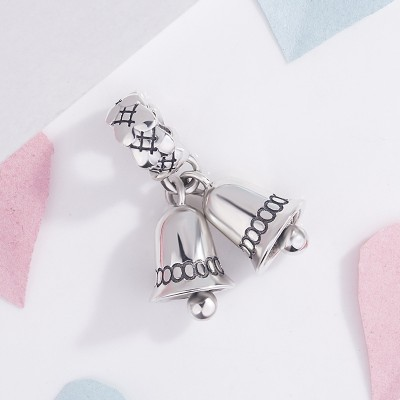 Christmas Bell Breloque Argent Sterling